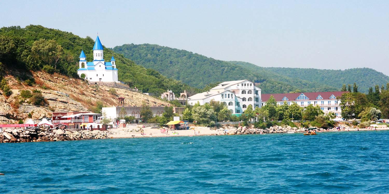 Новомихайловское фото пляжей и набережной